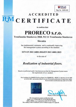 certifikát ISO 14001 2016 ENG