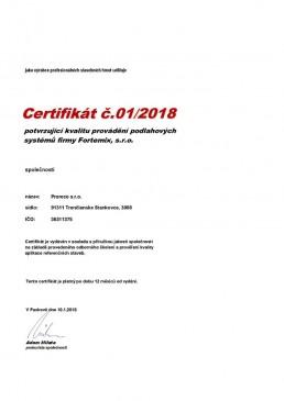 certifikát fortemix