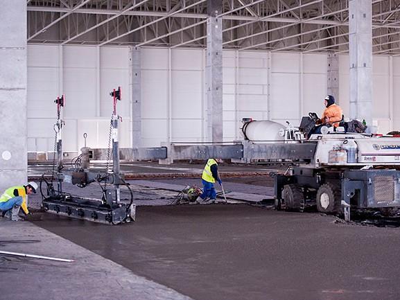 betónové konštrukcie priemyselných podláh Laser Screed
