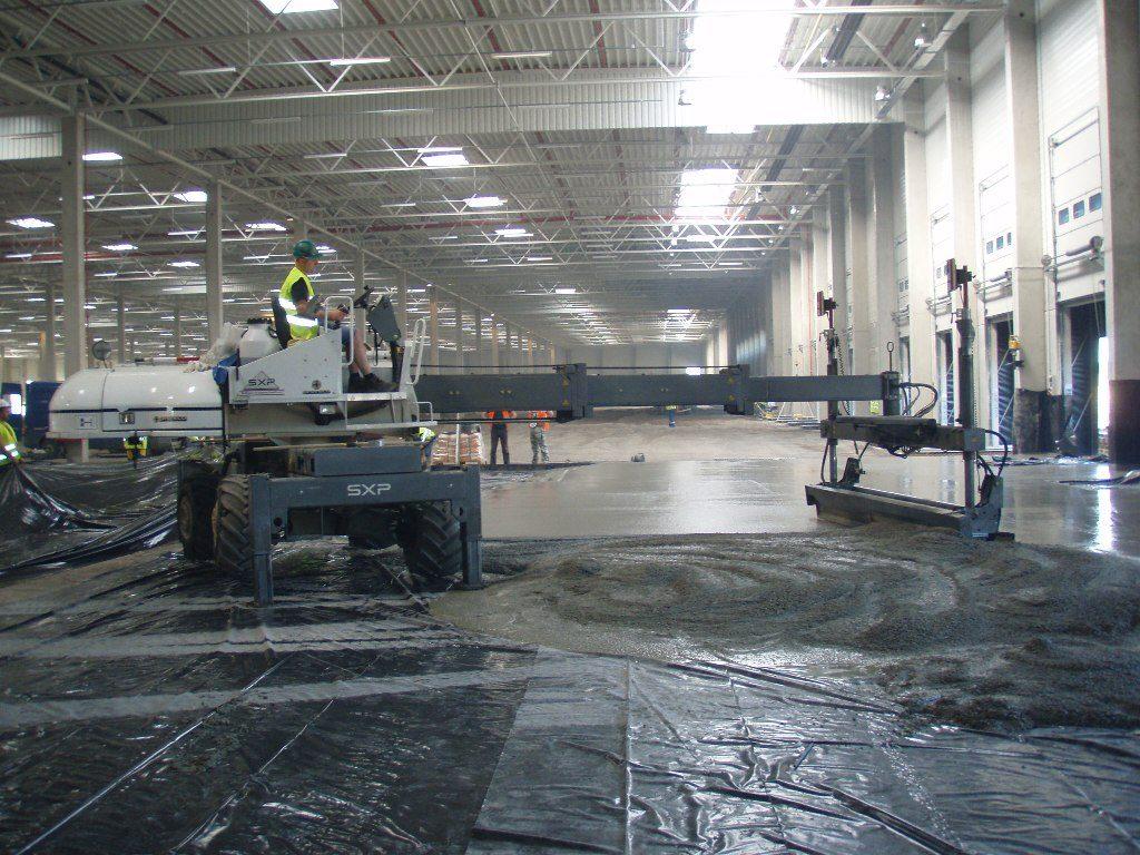 Spracovanie čerstvého betónu pomocou technológie laserscreed